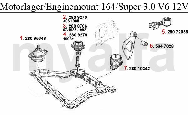 3,0 V6 12V//24V Thermostat-thermostat Alfa Romeo 164 2,0 V6 Turbo