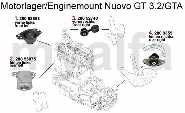 Motorlejer 3.2 V6 24V/GTA