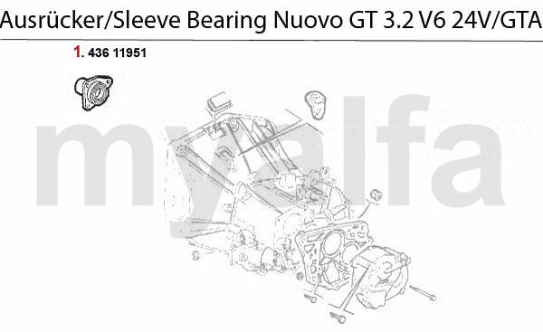 Bøsning 3.2 V6 24V/GTA