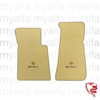 Fußmattensatz Spider Bj.1970-93 Feinvelours beige mit gesticktem Emblem