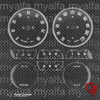 Satz Zifferblätter - 102 2000 Spider & Sprint - italienisch - Premium Qualität