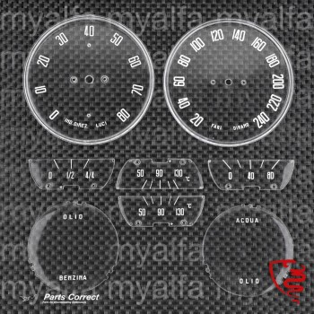 Satz Zifferblätter - 106 2600 Spider & Sprint - italienisch - Premium Qualität