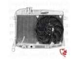 Aluminiumskøler high performance inkl. el-ventilator Giulia/GT Bertone 1.Serie årg.1963-68