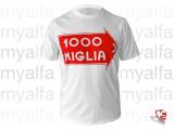"T-Shirt ""1000 MIGLIA"" hvid,"